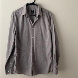 H&M Men's Easy Iron Shirt (Size Medium)